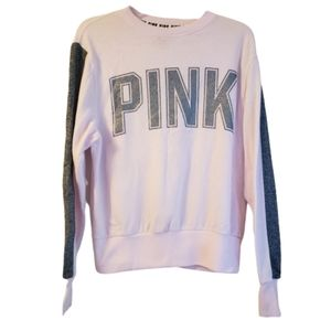 Pink by VS Pink Spellout Long Sleeve T-Shirt